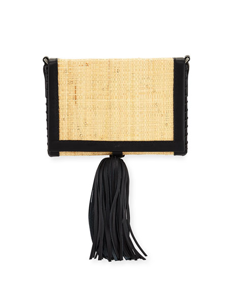 Raffia Small Attiki Crossbody Bag