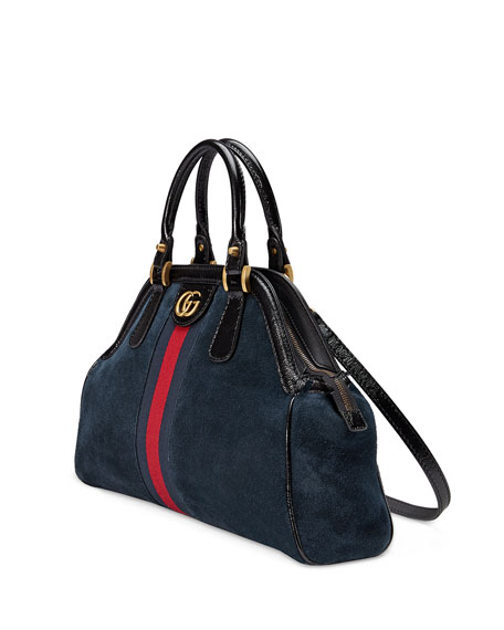 RE(BELLE) Medium Suede Top Handle Bag