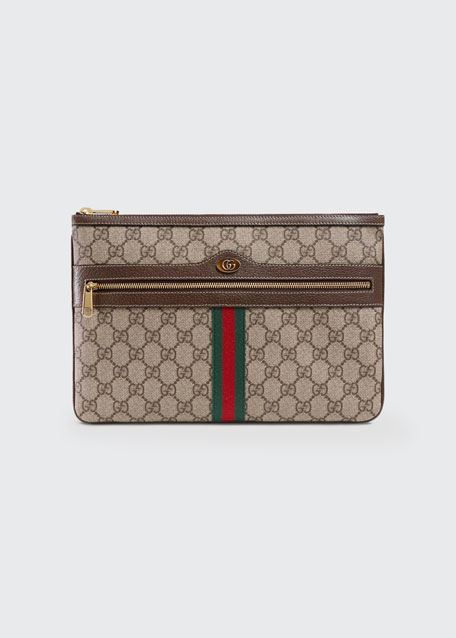 7a9a0e7ff67 Gucci Ophidia Large GG Supreme Pouch Clutch Bag
