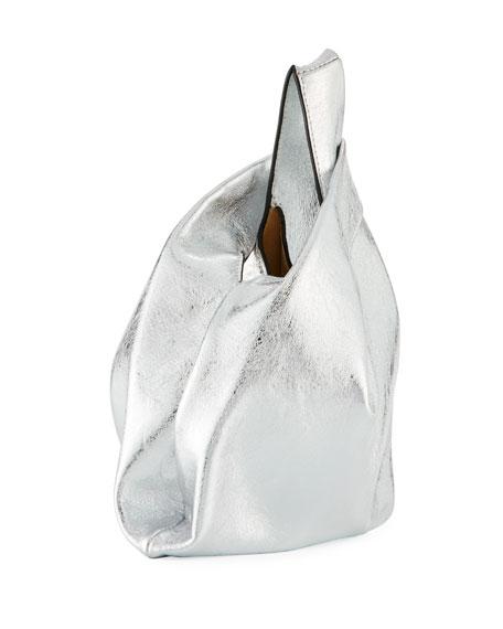Mini Shopper Foiled Leather Tote Bag