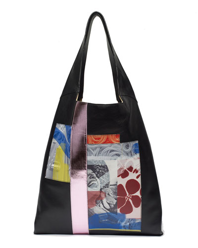 Grand Colorblock Shopper Tote Bag