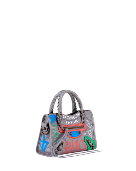 Classic City Mini City Graffiti-Print Tote Bag