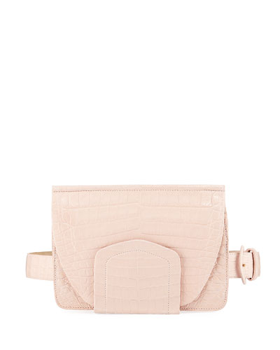 Crocodile Flap Belt Bag