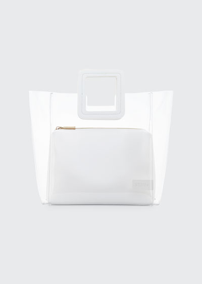 PVC and Leather Shirley Tote Bag