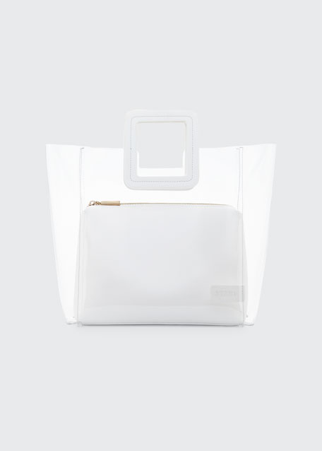Shirley Pvc And Leather Tote Bag in White