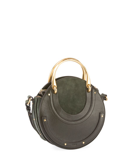 7299e19863 Chloe Pixie Small Round Double-Handle Tote Bag