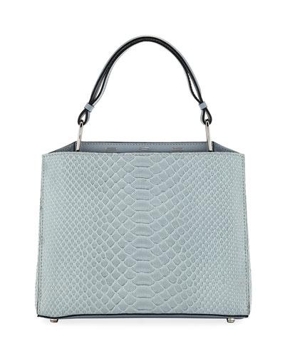 Seven 30 Shiny Top Handle Bag, Blue