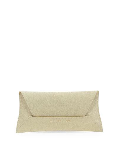 Manila Stretch Sparkle Clutch Bag, Gold