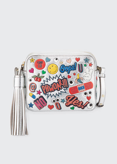 All Over Wink Stickers Shoulder Bag