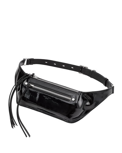 Ellis Large Patent Leather Fanny Pack