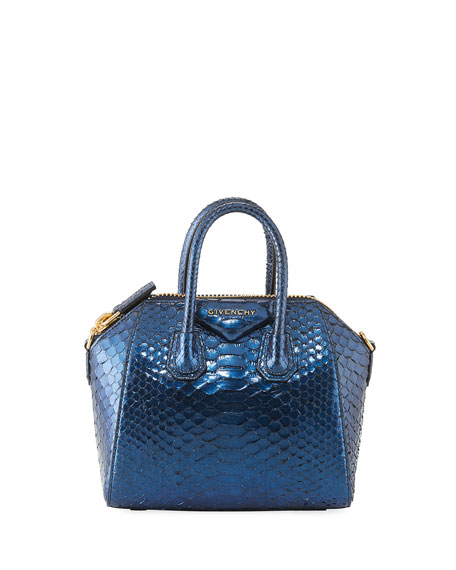 ANTIGONA MINI PYTHON SATCHEL BAG
