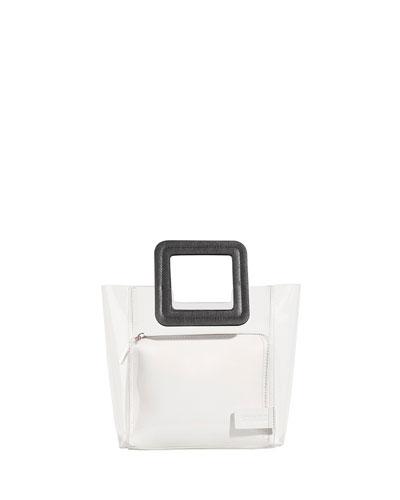 Shirley Colorblock Mini Tote Bag, Black/White