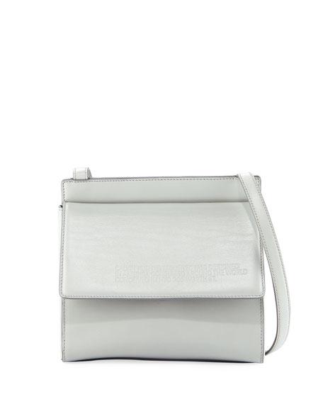 CALVIN KLEIN 205W39NYC Fold-Over Calf Leather Crossbody Bag