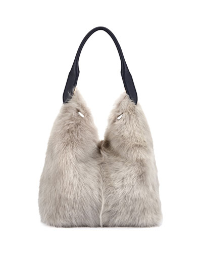 Build A Bag Small Shearling Hobo Bag