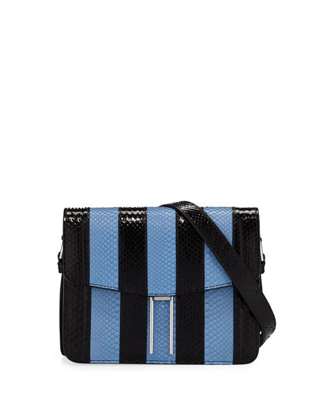 HAYWARD MINI STRIPED PYTHON CROSSBODY BAG