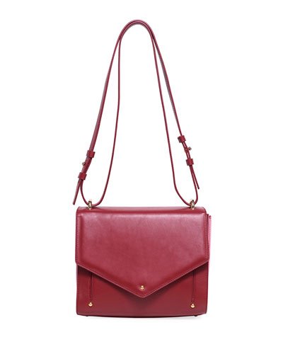 Leather Plissé Crossbody Bag