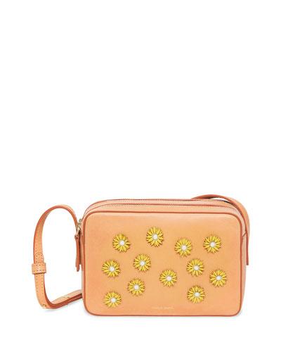 Floral-Embellished Crossbody Bag