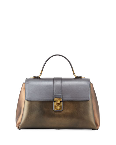Piazza Large Colorblock Metallic Bag
