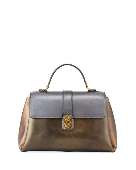b05017d5dfd8 Bottega Veneta Piazza Large Colorblock Metallic Bag