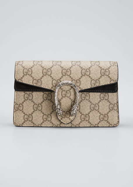 40cd6e7cad2f Gucci Dionysus GG Supreme Mini Shoulder Bag, Beige/Black