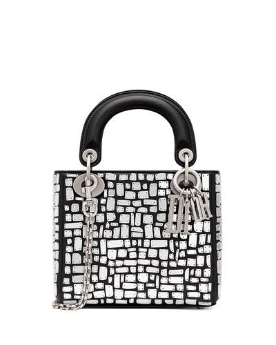 Mini Lady Dior Bag with Mirror Mosiac Calfskin