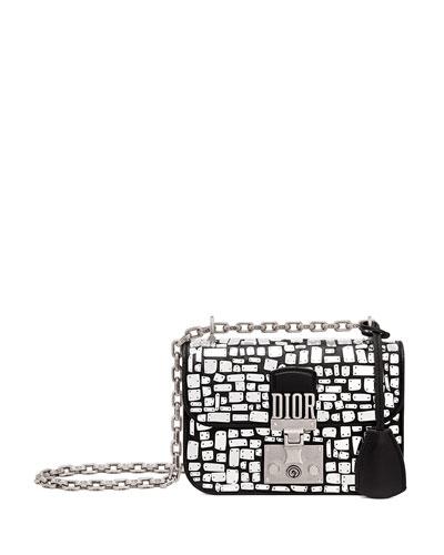 Dioraddict Small Mirror Mosiac Calfskin Flap Bag