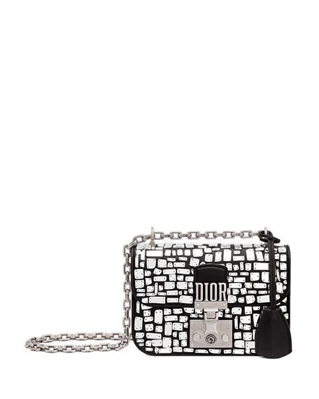 736feb845 Dior Dioraddict Small Mirror Mosiac Calfskin Flap Bag