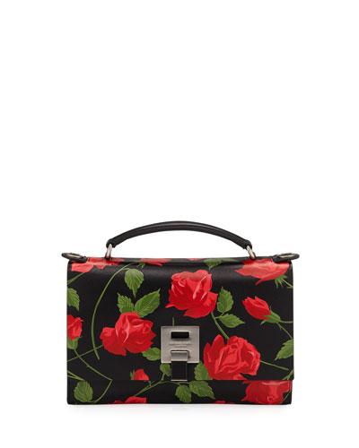 Stemmed Roses Leather Shoulder Bag