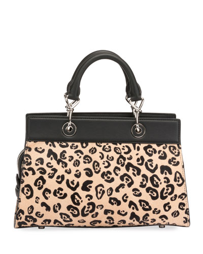 Shadow Small Leopard-Print Tote Bag