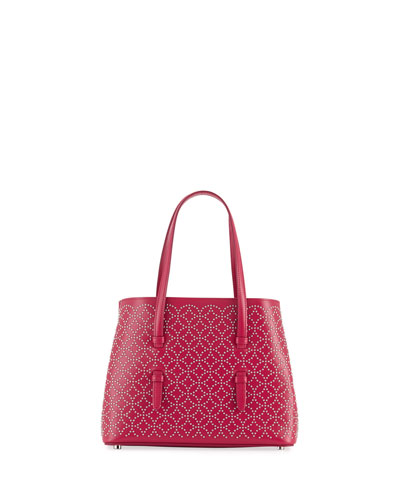 Studded Mini Tote Bag, Pink