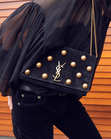 Kate Medium Monogram YSL Dome-Stud Bag
