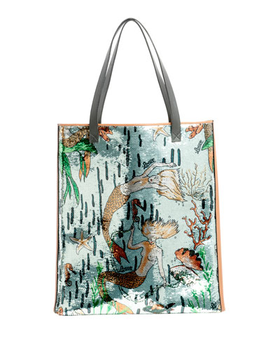 x Paula's Ibiza Mermaid Tote Bag