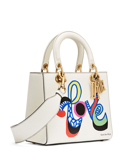 Lady Dior Bag with Textured Niki de Saint Phalle Print