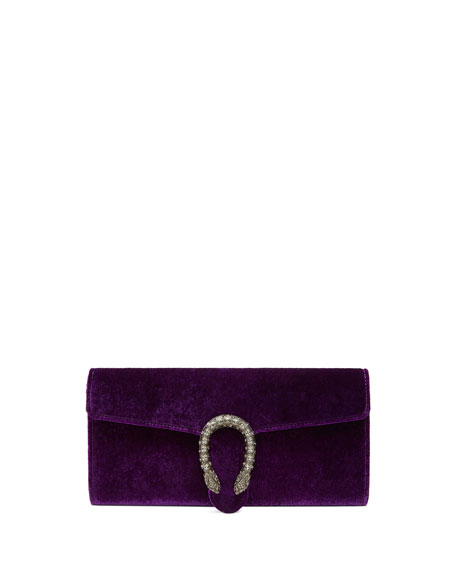 DIONYSUS VELVET CLUTCH - PURPLE