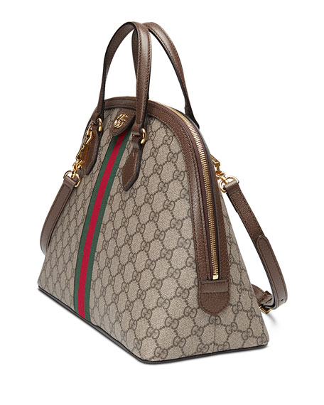 e0f17b53d9d Gucci Ophidia Medium Web GG Supreme Top-Handle Bag
