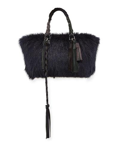 Tassel Furry Tote Bag