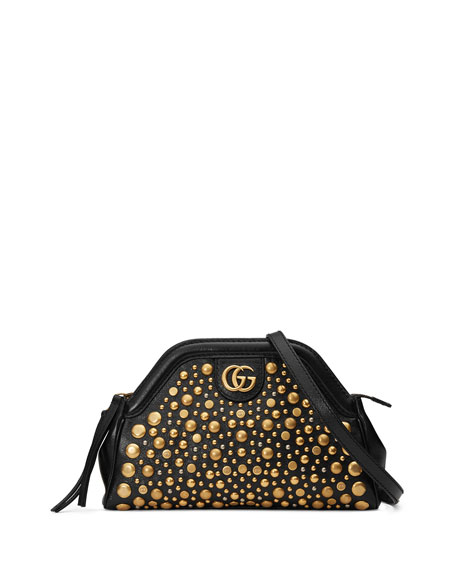 Re(Belle) Small Shoulder Bag With Studs in Natural