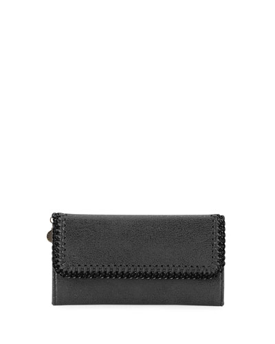 Falabella Shaggy Deer Continental Flap-Top Wallet