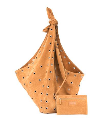Bandana Grommet Hobo Bag