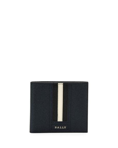 Men's Trasai Striped Leather Bi-Fold Wallet
