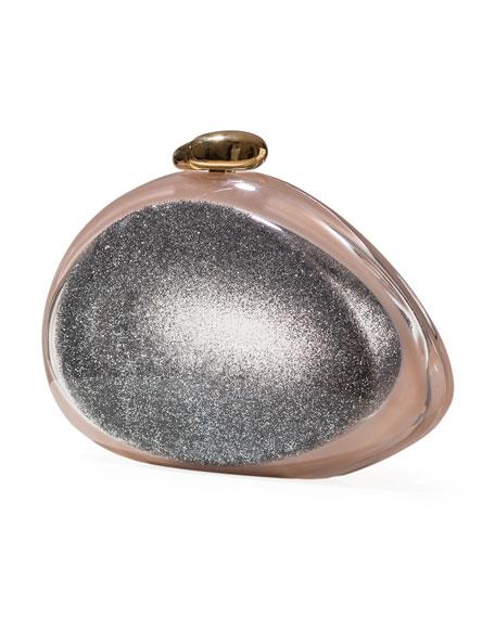 Ariel Iridescent Minaudiere, Silver