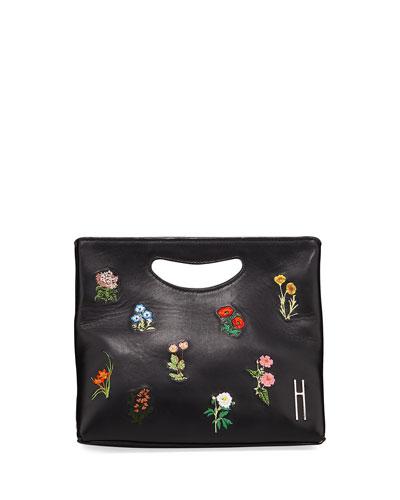 1712 Basket Napa Embroidered Clutch Bag