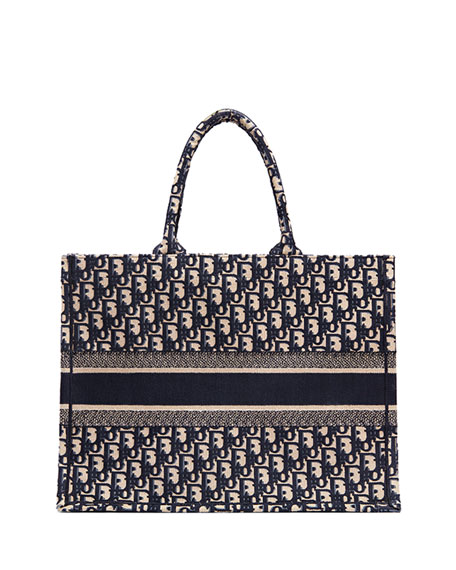 Dior Logo Embroidered Canvas Book Tote aaf9970c4bdc5