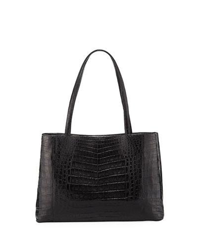 Nancy Gonzalez Black Crocodile Top Handle Bag HBV37jk