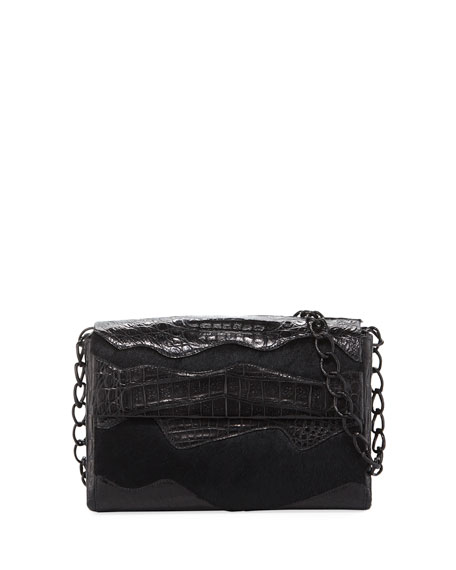 MADISON SMALL DOUBLE-CHAIN SHOULDER BAG