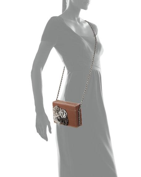 Stelles Sequin Velour Shoulder Bag