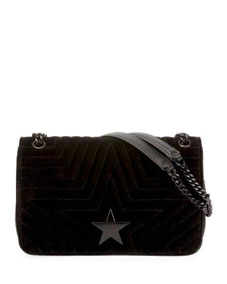 STELLA STAR SMALL VELVET SHOULDER BAG