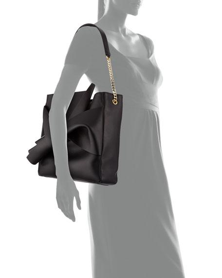 Napa Leather Bow Hobo Bag