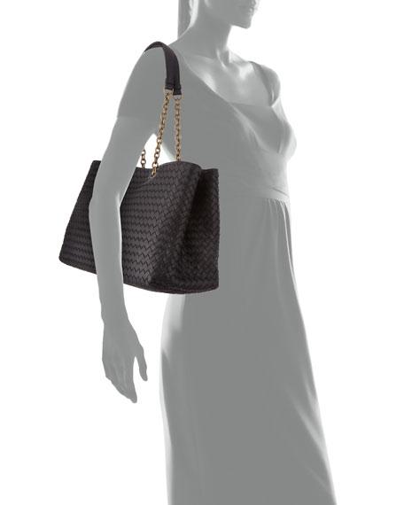 Bottega Veneta Intrecciato Medium Double Chain Tote Bag e436f2463df3f