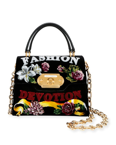 Welcome Fashion Devotion Velvet Shoulder Bag